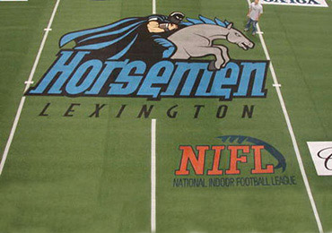 Football Field Midfield Logo Stencil And Custom Athletic