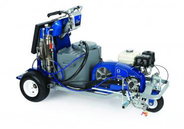 Ride on Graco Field Lazer G400 ride on airless athletic field line marking painting striping spray machine.