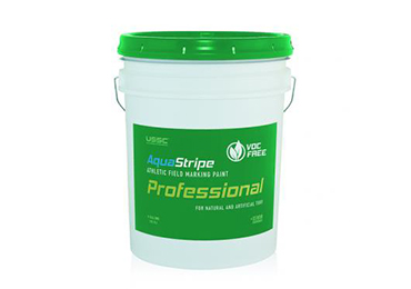 Concentrated Athletic Field Line Marking Striping grass turf Paint containing Zero 0 VOC.