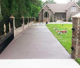 concrete driveway painted acrylic latex coating paint roller. Black Bedroom Furniture Sets. Home Design Ideas
