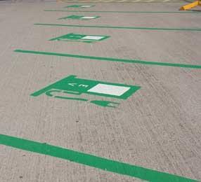 Electric Vehicle Car Charging Station Spot Parking Paint
