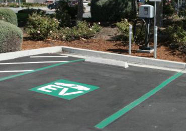 Electric Vehicle Car Charging Station Spot Parking Paint Coating