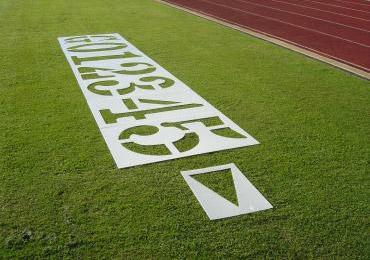 Football Field Yard Yardage Number Stencil Kit Painting Yard Numbers