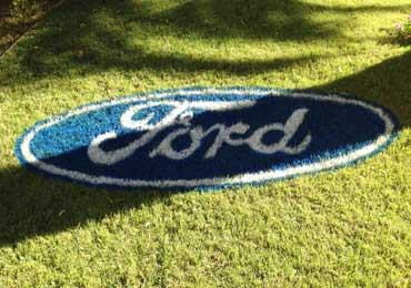 College Logo Stencil For Grass Painting, Home Lawn Yard Turf Kit
