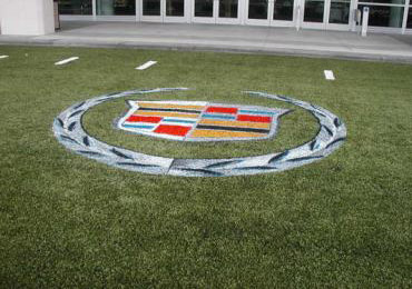 permanent marking paint lines logos on synthetic