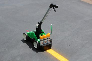 parking lot line striping machine