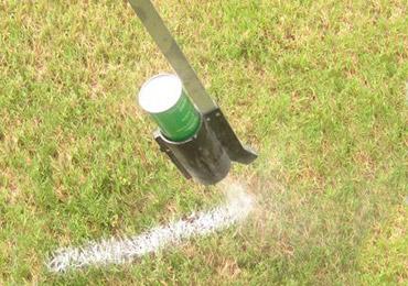 Utility golf course marking aerosol paint water base apwa for Upside down paint sprayer