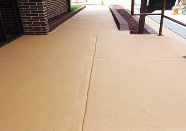 Mocha French Roast Red Brown Color Concrete Paint Overlay Coating On Walkway