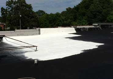 Heat reflective elastomeric white protective metal roof coating, paint